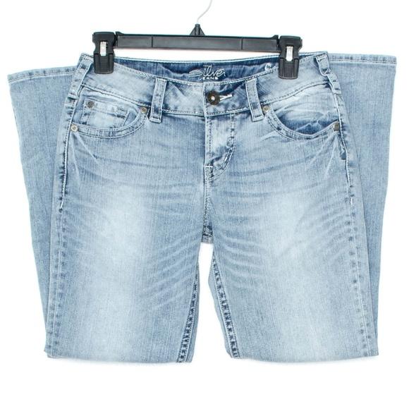 Silver Jeans Denim - Silver Womens Jeans Suki Capri Crop Blue 27 AH